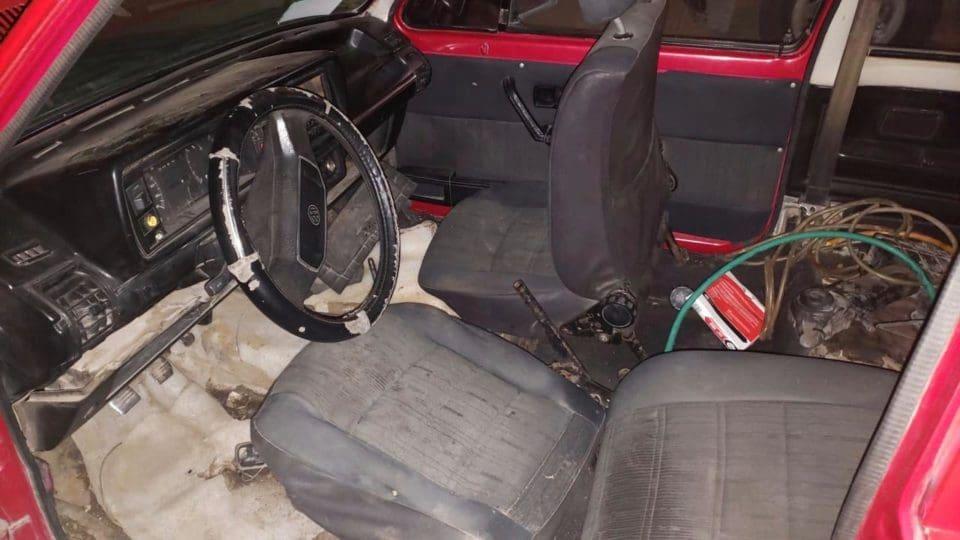 vehículo desvalijado